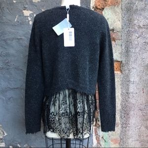 Autumn Cashmere DISTRESSED CASHMERE CREW